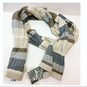 Geoffrey Beene | NWT Color Block Ribbed Scarf